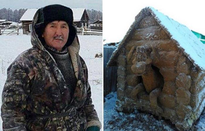 Скульптура из навоза: «Год Собаки»./ Фото: yakutiamedia.ru