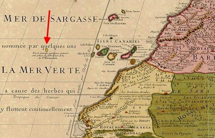 Несуществующий остров святого Брендана.