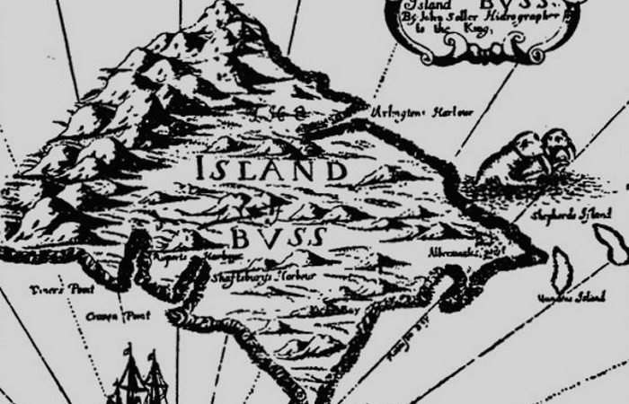 Несуществующий остров Бусс.