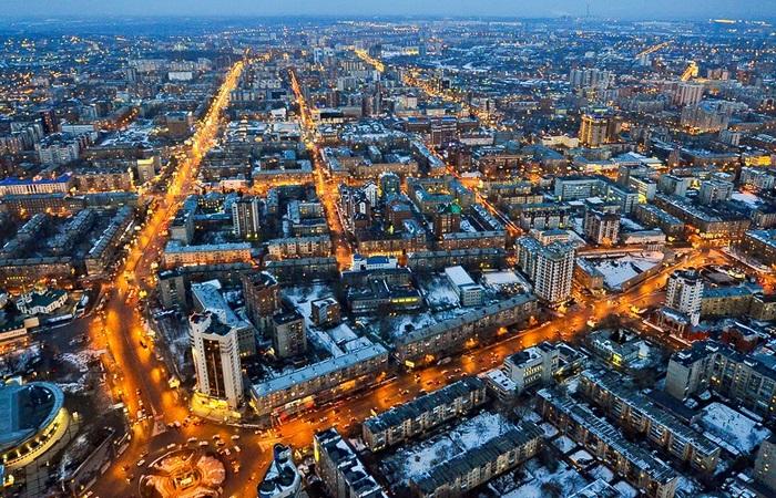 Новосибирск вечерний./ Фото: novosib-room.ru