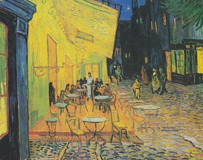 Картина «Ночная терраса кафе», худ. Винсент Ван Гог.