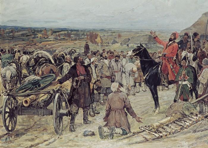 Крестьянская война под предводительством Емельяна Пугачёва./ Фото: emano.ru