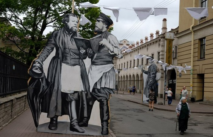 «День Достоевского» в Санкт-Петербурге, 30 июня 2014 года./Фото: 5uglov.ru