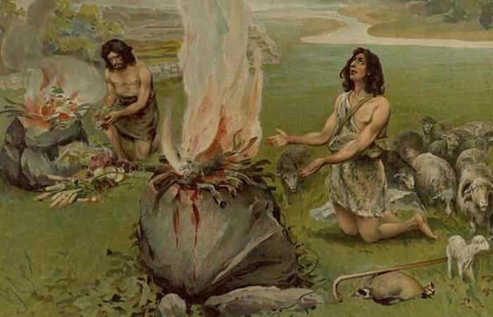Каин и Авель приносят жертвы./ Фото: chitalnya.ru