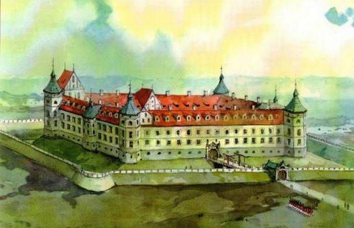 Акварель «Гольшанский замок»./ Фото: fotobel.by