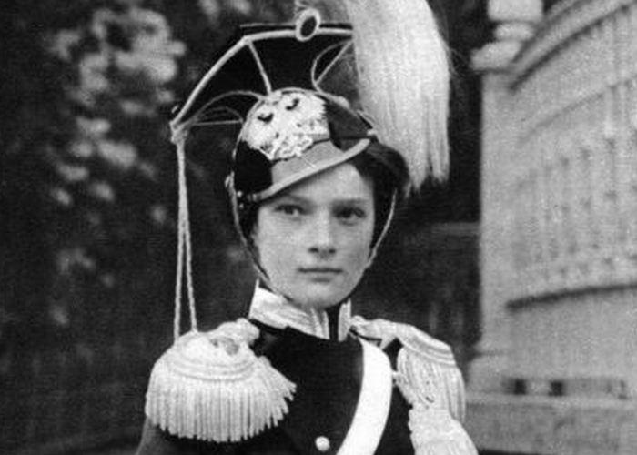 Татьяна Романова в парадной военной форме./ Фото: tumblr.com