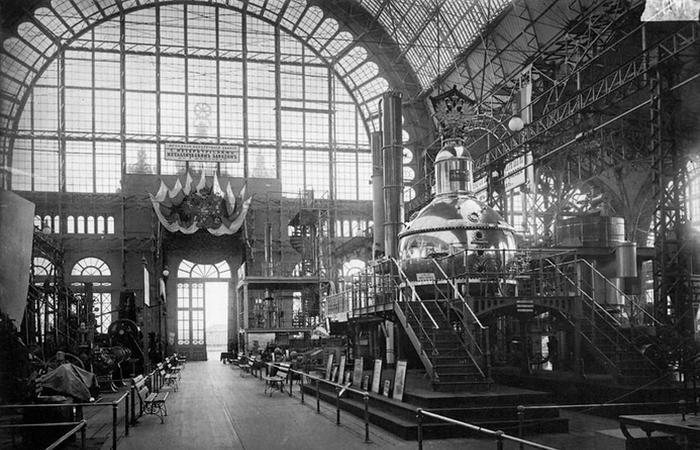 Машинный отдел Всероссийской промышленной выставки, 1896 г./ Фото: imperhans.ru