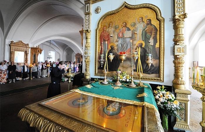 Мощи преподобных Сергия и Германа Валаамских./ Фото: anapahram.ru