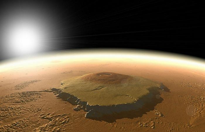 Семь чудес Солнечной системы: гора Олимп на Марсе.