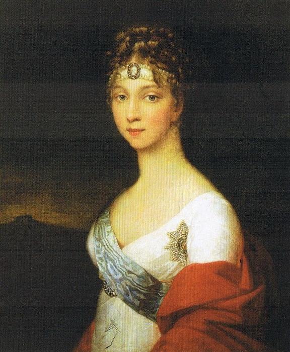 Портрет Елизаветы Алексеевны. Неизвестный художник. 1800-е гг.