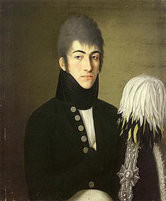 Портрет Алексея Охотникова. Неизвестный художник
