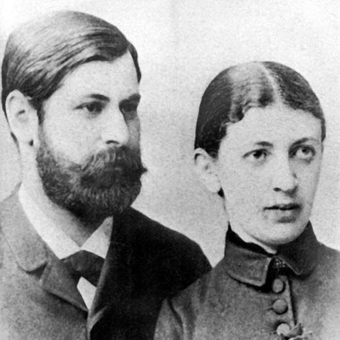 Свадебное фото Зигмунда и Марты, 1886 год