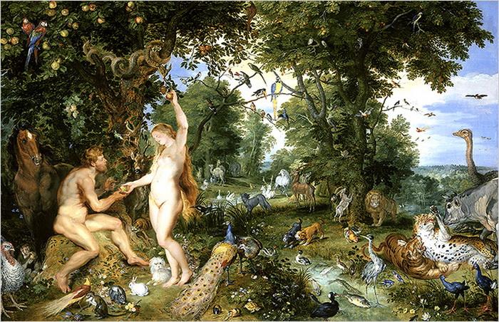 Питер Пауль Рубенс, Ян Брейгель Старший «Эдемский сад с грехопадением»