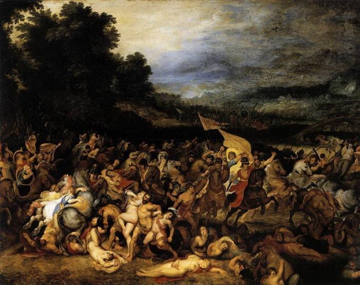 «Битва амазонок» — наиболее ранняя из известных совместных работ Рубенса и Брейгеля