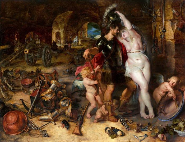 Питер Пауль Рубенс, Ян Брейгель Старший «Возвращение с войны. Венера разоружает Марса»