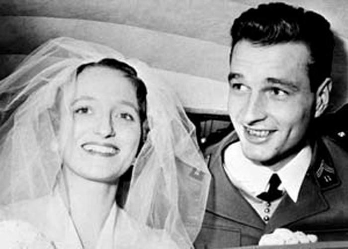 Свадебный портрет Бернадетт и Жака Ширака