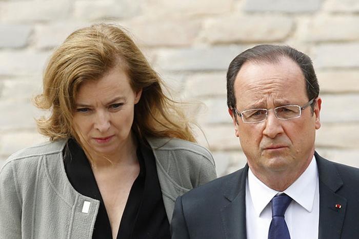 Валери Триервейлер и Президент Франсуа Олланд