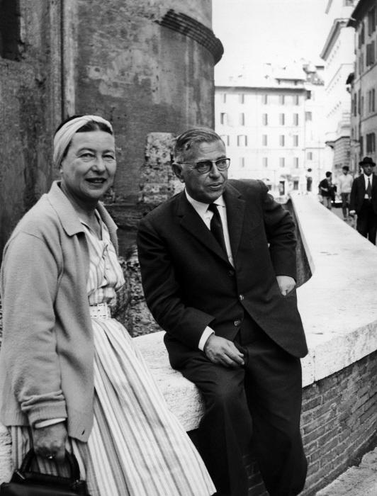 Симона де Бовуар и Жан-Поль Сартр (1963)