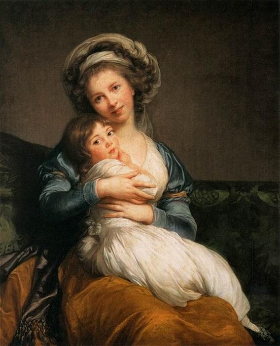 Элизабет Виже-Лебрен «Мадам Виже-Лебрен и ее дочь» (1786)