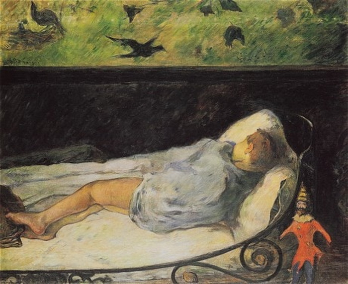 Поль Гоген «Маленький спящий» (1881)