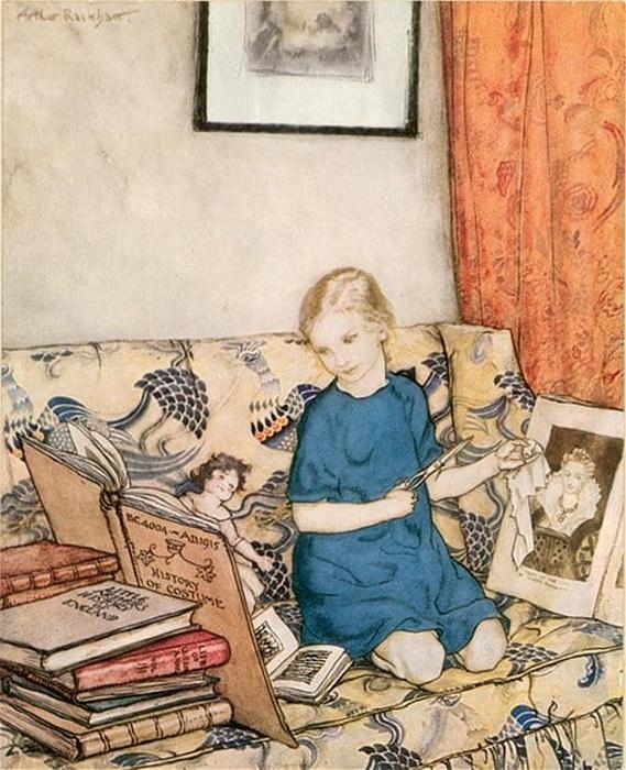 Артур Рэкхем «Портрет дочери, Барбары», 1915