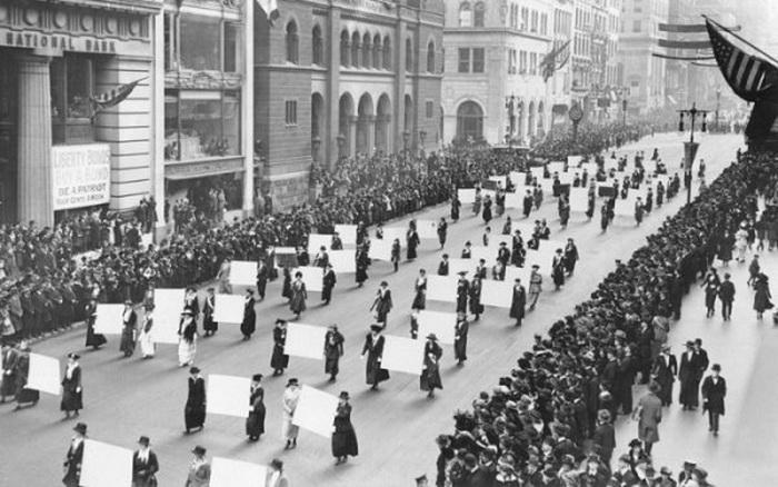 Парад суфражисток, 1910 год