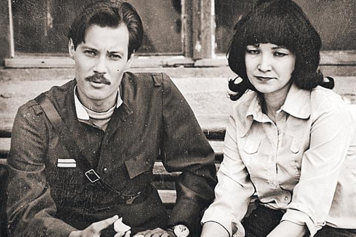 Владимир Конкин и Алла Конкина на Одесской киностудии во время съёмок фильма «Место встречи изменить нельзя».