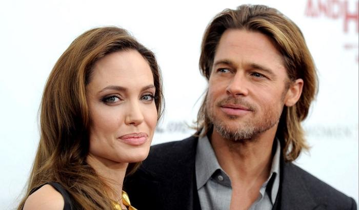 Анджелина Джоли и Брэд Питт. / Фото: www.wallpaperscraft.com