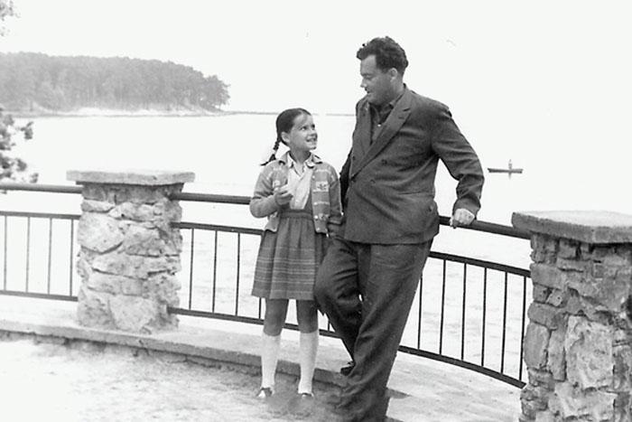 Эльдар Рязанов с дочерью Ольгой