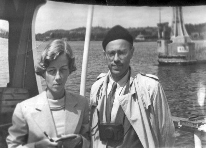 Станислав Лем и Барбара Лесьняк. / Фото: www.lem.pl