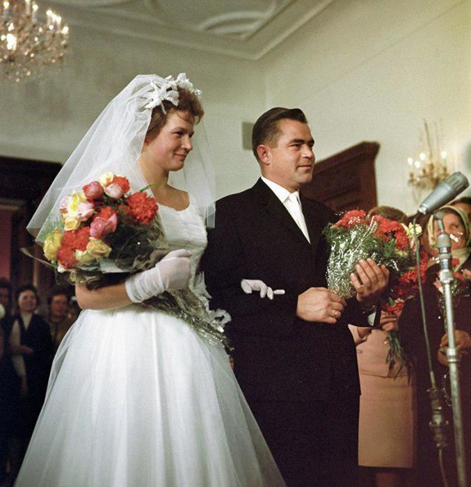 Бракосочетание Андрияна Николаева и Валентины Терешковой. / Фото: www.aif.ru