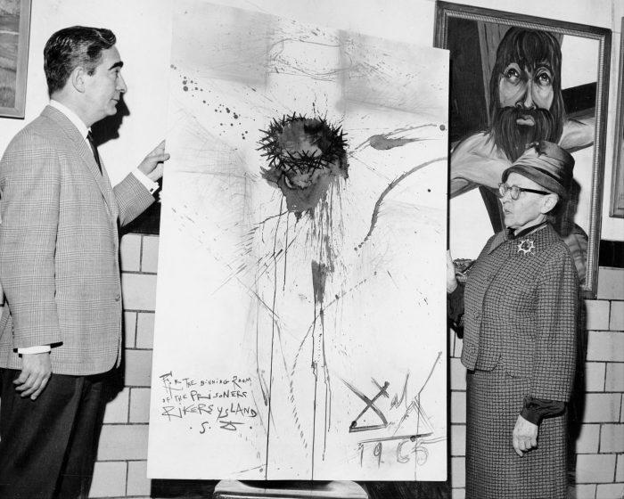 «Распятый Христос» из тюрьмы Райкерс-Айленд, 1965 г. Сальвадор Дали.  / Фото: www.zzzclan.com