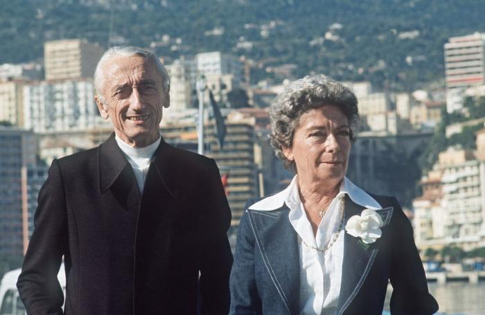 Симона Кусто и его муж Жак-Ив. Монако, 3 ноября 1975 года. / Фото: www.madame.lefigaro.fr