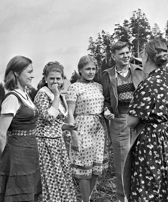 На съёмках фильма «Москва слезам не верит». / Фото: www.telesem.ru