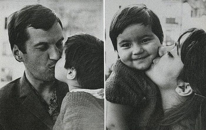 Георгий Бурков и Татьяна Ухарова с дочерью Марией. / Фото: www.ladoshki.ch