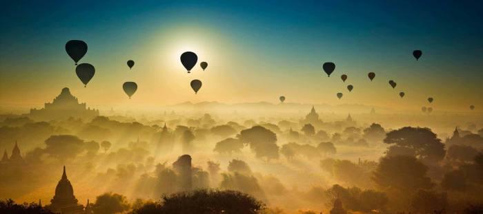 Воздушные шары над Баганом. / Фото: www.solentnews.co.uk