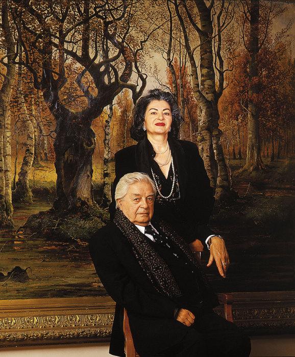 Юрий Любимов и Каталин Кунц. / Фото: www.masterphoto.ru