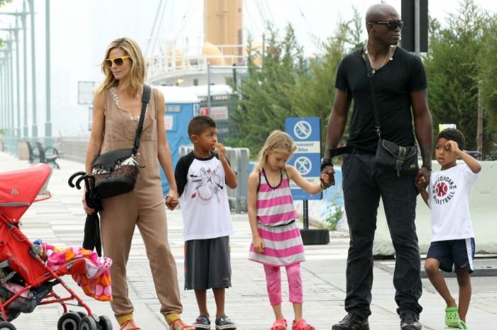 Сил и Хайди Клум с детьми.  / Фото: www.woman.ru