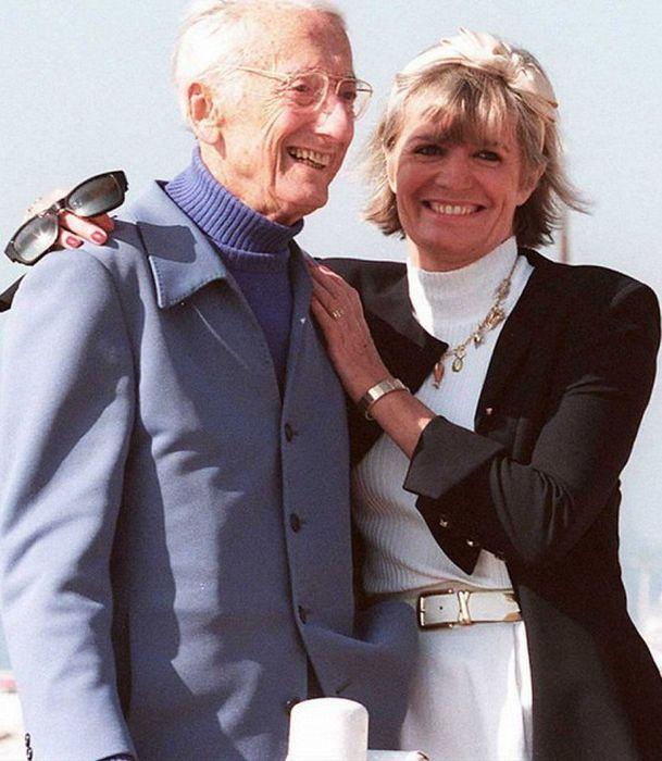 Жак-Ив Кусто и Франсина Триплет. / Фото: www.colors.life