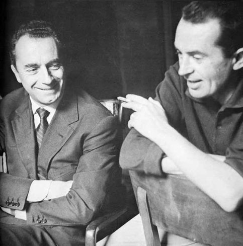 Тонино Гуэрра с Микеланджело Антониони, 1960 г. / Фото: Ассоциация Тонино Гуэрра