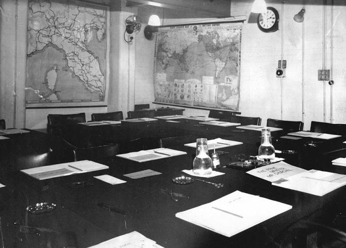 Комната совещаний начальников штабов  во время войны. / Фото: www.wwii.space