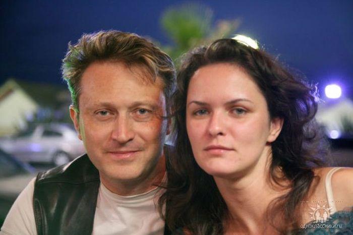 Елена Сафонова со своим вторым мужем фотографом Вадимом Сухаревским. / Фото: www.livestory.com.ua
