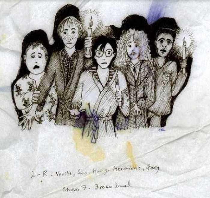 Иллюстрация Джоан Роулинг к будущей книге о Гарри Поттере. / Фото: www.pottermore.com