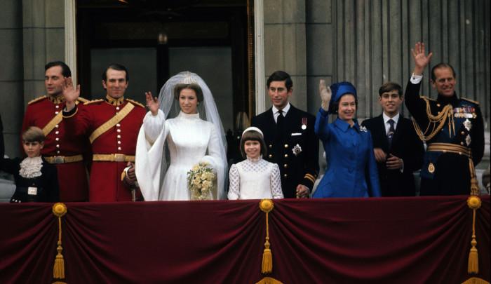 Свадьба принцессы Анны и Марка Филлипса. / Фото: www.woman.ru