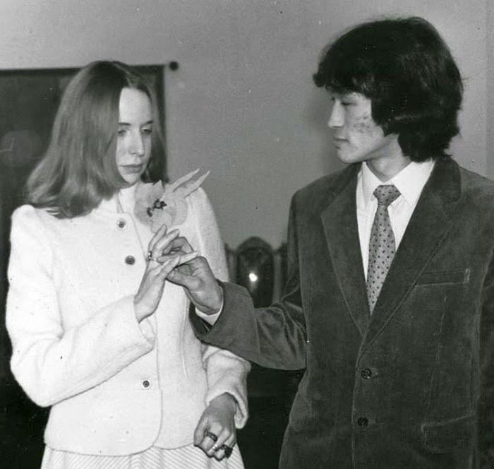 Виктор Цой и Марианна Родованская. / Фото: www.blogspot.com