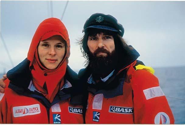 Федор и Ирина Конюховы после завершения второго совместного плавания через Атлантический океан. / Фото: www.radiovera.ru