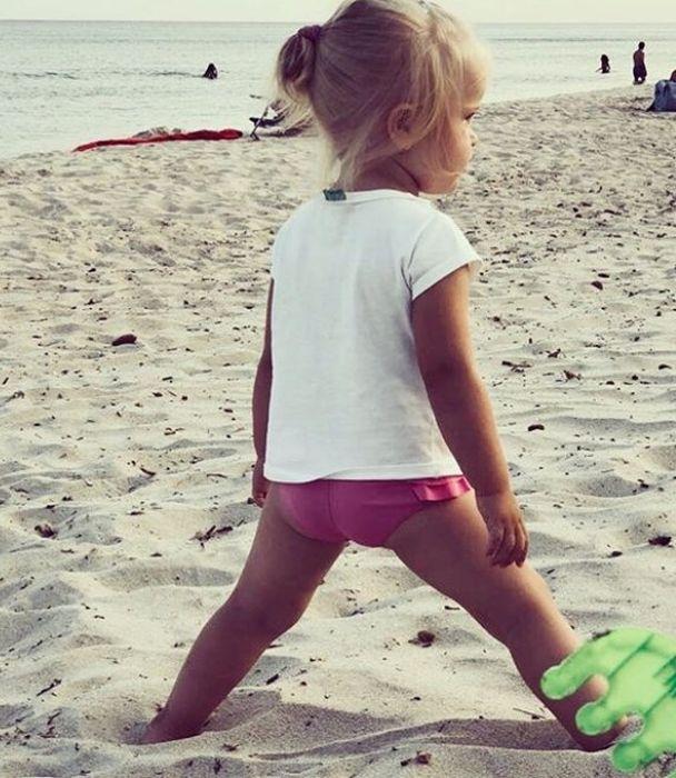Фотография дочери, опубликованная Ольгой Литвиновой на своей странице в социальной сети. / Фото: www.instagram.com