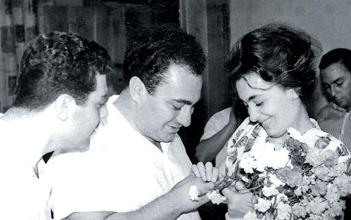Зураб Соткилава и Элисо Турманидзе на церемонии бракосочетания,Тбилиси, 17 июля 1965. / Фото: из личного архива Зураба Соткилавы