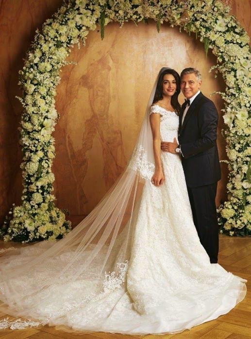 Свадьба Джорджа Клуни и Амаль Аламуддин. / Фото: www.weddbook.com