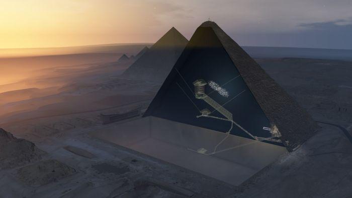 Pesquisadores conseguiram encontrar o vazio na Grande Pirâmide.  / Foto: www.tehnot.com
